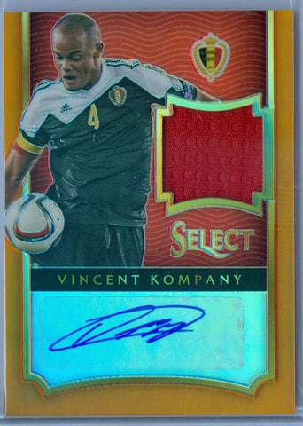 VINCENT KOMPANY 2015 PANINI SELECT ORANGE REFRACTOR JERSEY AUTO AUTOGRAPH SP/125
