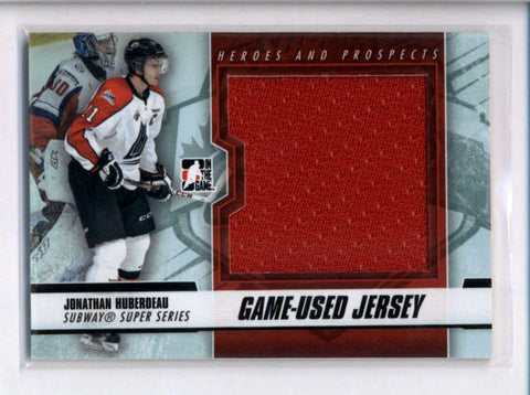 JONATHAN HUBERDEAU 2012/13 IN THE GAME ITG HEROES AND PROSPECTS JERSEY AC2476