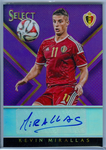 KEVIN MIRALLAS 2015 PANINI SELECT PURPLE AUTO AUTOGRAPH SP/25