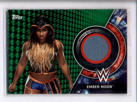 EMBER MOON 2018 TOPPS WWE ROYAL RUMBLE GREEN EVENT USED MAT #015/150 AC2480
