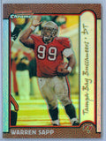 WARREN SAPP 1999 BOWMAN CHROME GOLD REFRACTOR SP/25