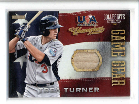 TREA TURNER 2013 PANINI TEAM USA CHAMPIONS GAME GEAR GAME USED BAT RELIC AC587