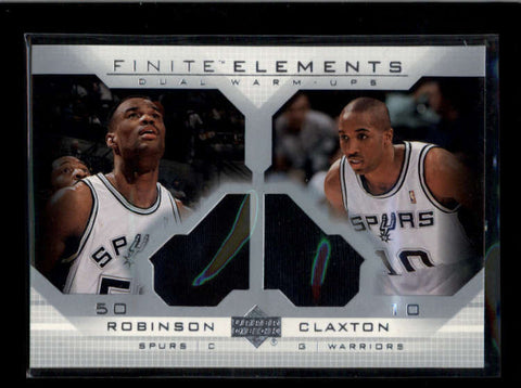 DAVID ROBINSON / CLAXTON 2003/04 UD FINITE ELEMENTS DUAL WARM-UP JERSEY AC2452