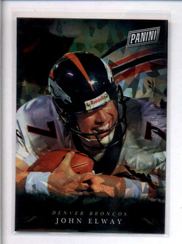 JOHN ELWAY 2018 PANINI BLACK FRIDAY #JE CRACKED ICE PARALLEL #02/10 AC2369