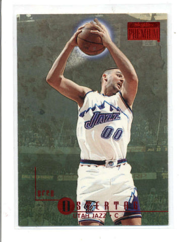 GREG OSTERTAG 1996/97 96/97 SKYBOX PREMIUM #194 RUBIES RUBY PARALLEL AC1287