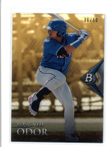 ROGHNED ODOR 2014 BOWMAN PLATINUM #BPCP51 GOLD REFRACTOR ROOKIE #36/50 AC561