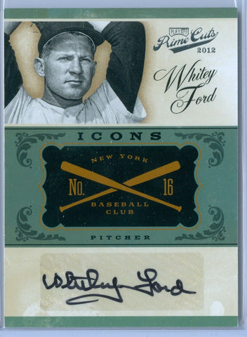 WHITEY FORD 2012 PRIME CUTS ICONS AUTO AUTOGRAPH SP/25