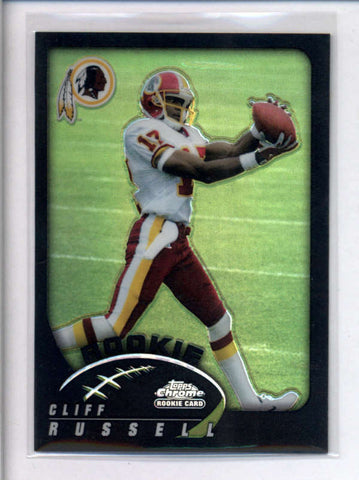 CLIFF RUSSELL 2002 TOPPS CHROME #190 ROOKIE BLACK REFRACTOR #058/100 AC2355