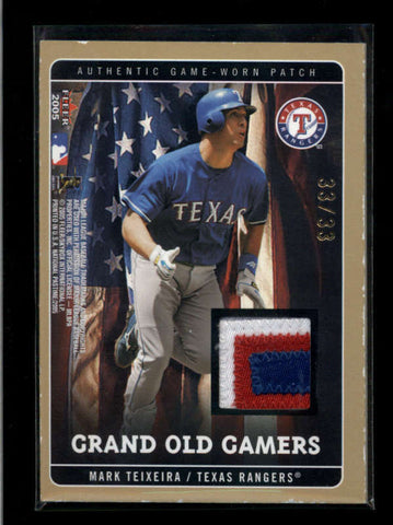 BLALOCK / TEIXEIRA 2005 FLEER GRAND OLD GAMERS DUAL GAME PATCH #33/33 AC2171