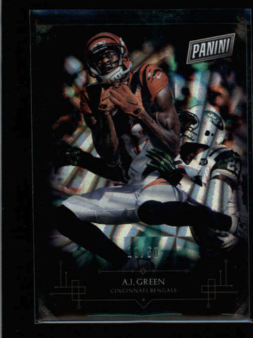 A.J. AJ GREEN 2016 PANINI BLACK FRIDAY #3 WEDGES CARD #19/50 AB8700