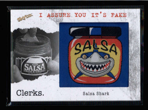SALSA SHARK 2011 SKYBOX CLERKS PATCH RELIC CARD #FAKE-2 AC110