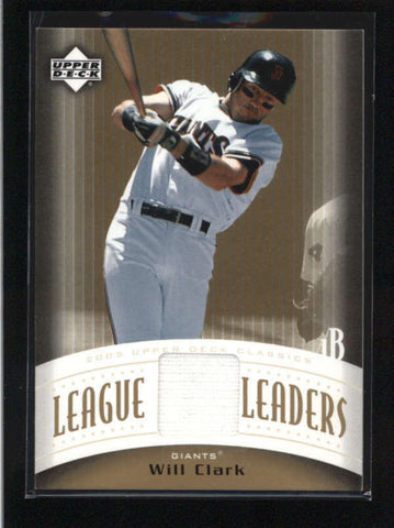 WILL CLARK 2005 UPPER DECK CLASSICS LEAGUE LEADERS GAME USED JERSEY AB8857