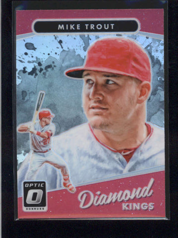 MIKE TROUT 2017 DONRUSS OPTIC #13 DIAMOND KINGS PRIZM REFRACTOR PARALLEL  AB9782