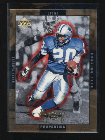 BARRY SANDERS / THURMAN THOMAS 1998 UPPER DECK HOT PROPERTIES GOLD AB6313