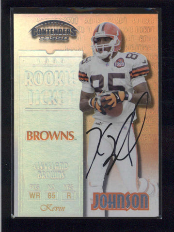 KEVIN JOHNSON 1999 PLAYOFF CONTENDERS SSD ROOKIE AUTOGRAPH AUTO SP /1325 AB9863