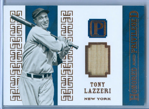 TONY LAZZERI 2016 PANTHEON HONORED & PRIVILEGED GAME USED BAT SP/10