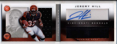 JEREMY HILL 2014 PLAYBOOK DUAL ROOKIE JERSEY AUTOGRAPH AUTO BOOKLET /299 AC1313