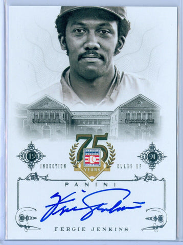 FERGIE JENKINS 2014 PANINI HALL OF FAME AUTO AUTOGRAPH #81 SP