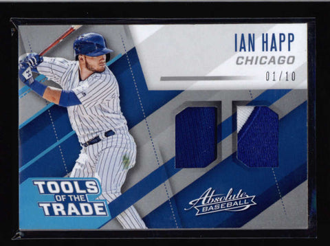 IAN HAPP 2017 ABSOLUTE TOOLS OF THE TRADE DUAL GAME PATCH COMBO #01/10 AC590