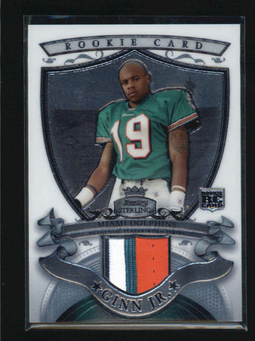 TED GINN JR. 2007 BOWMAN STERLING ROOKIE RC USED WORN 4-CLR JERSEY AB6182