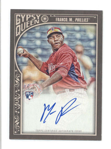 MAIKEL FRANCO 2015 TOPPS GYPSY QUEEN ON CARD ROOKIE AUTOGRAPH AUTO RC AB9760
