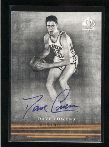 DAVE COWENS 2013/14 13/14 SP AUTHENTIC CANVAS COLLECTION AUTOGRAPH AUTO AB9055