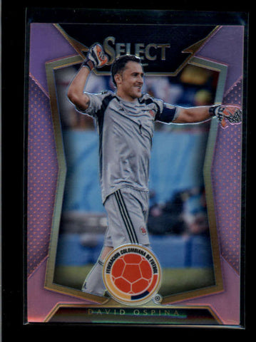 DAVID OSPINA 2015 PANINI SELECT NATIONAL PINK PRIZM REFRACTOR #17/20 AB7743