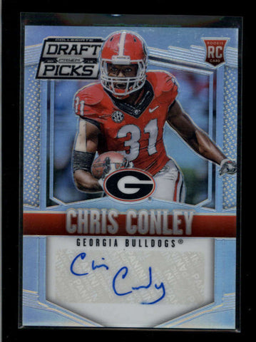 CHRIS CONLEY 2015 COLLEGIATE DRAFT PICKS PRIZMS ROOKIE AUTOGRAPH AUTO AC2324