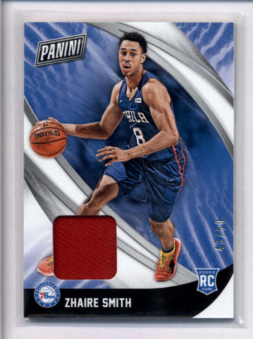 ZHAIRE SMITH 2018 PANINI BLACK FRIDAY ROOKIE USED WORN JERSEY #43/50 AC2423