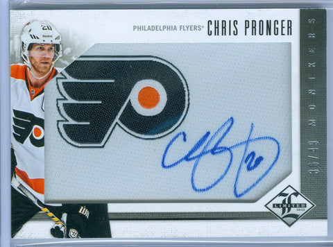 CHRIS PRONGER 2012-13 LIMITED MONIKERS SILVER AUTO AUTOGRAPH SP/49