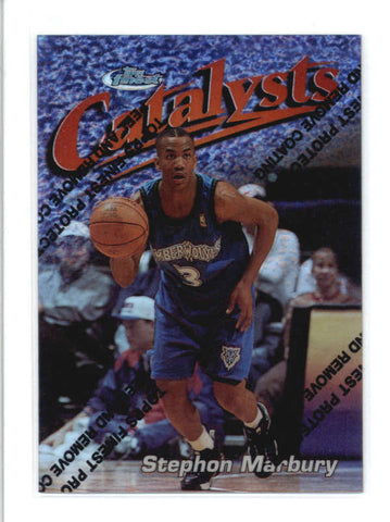 STEPHON MARBURY1997/98 TOPPS FINEST #121 SILVER REFRACTOR #0945/1090 AB9356
