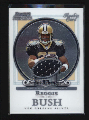 REGGIE BUSH 2006 BOWMAN STERLING ROOKIE RC USED WORN JERSEY AB6184