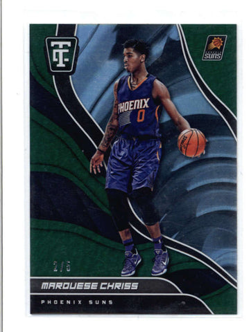 MARQUESE CHRISS 2017/18 TOTALLY CERTIFIED #98 EMERALD GREEN PARALLEL #2/5 AC703