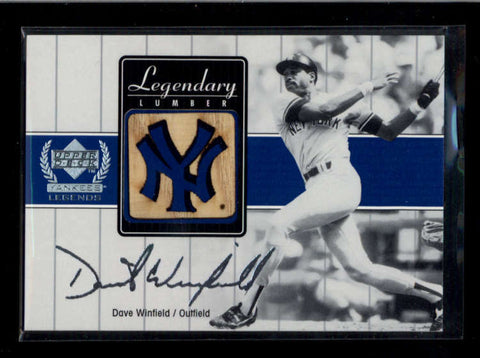 DAVE WINFIELD 2000 UD YANKEES LEGENDS LEGENDARY LUMBER GAME USED BAT AC2230