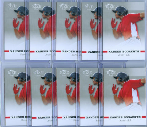 (10) XANDER BOGAERTS 2012 LEAF RIZE DRAFT RC ROOKIE LOT SP