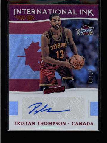 TRISTAN THOMPSON 2016/17 AFICIANOADO INTERNATIONAL INK PROOF AUTO 10/49 AC007