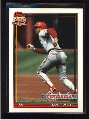 OZZIE SMITH 1991 TOPPS TIFFANY PARALLEL #130 AB8866