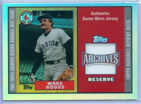 WADE BOGGS 2002 02 TOPPS ARCHIVES RESERVE GAME USED JERSEY RELIC SP