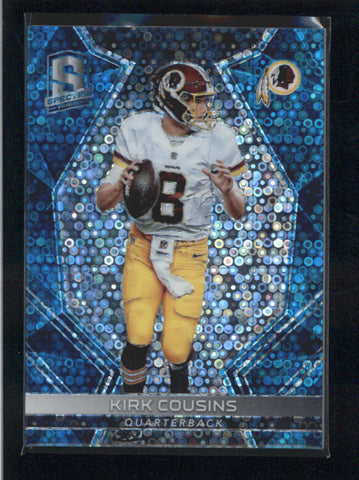 KIRK COUSINS 2017 PANINI SPECTRA #13 NEON BLUE PARALLEL #17/50 AB9908