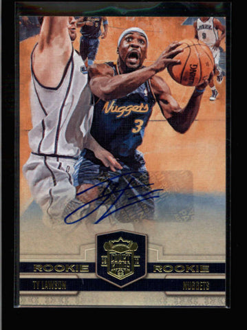 TY LAWSON 2009/10 COURT KINGS #134 ROOKIE AUTOGRAPH AUTO RC #490/649 AC009