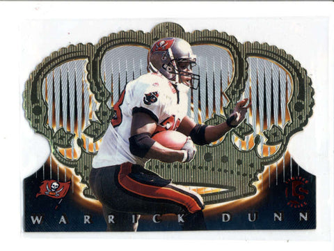 WARRICK DUNN 1999 CROWN ROYALE #133 LIMITED STOCK PARALLEL #73/99 (RARE) AC918