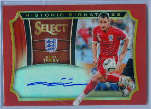 JOHN TERRY 2015 PANINI SELECT RED HISTORIC SIGNATURES AUTO AUTOGRAPH SP/49