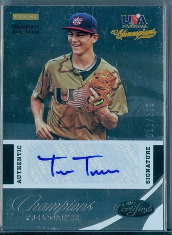 TREA TURNER 2013 CERTIFIED USA BASEBALL CHAMPIONS ROOKIE AUTO AUTOGRAPH SP/299