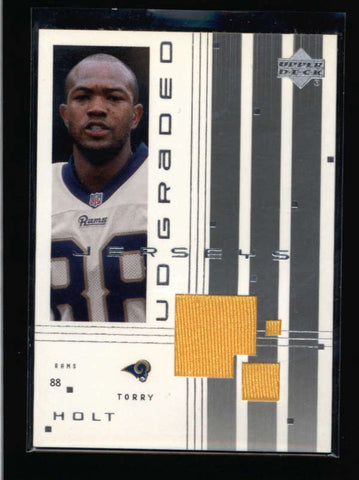 TORRY HOLT 2000 UD GRADED GAME USED WORN JERSEY RELIC CARD #G-TH AC645