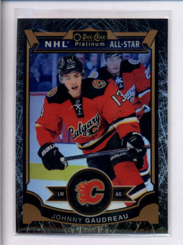 JOHNNY GAUDREAU 2015/16 O-PEE-CHEE PLATINUM #65 BLACK ICE PARALLEL #82/99 AC2470