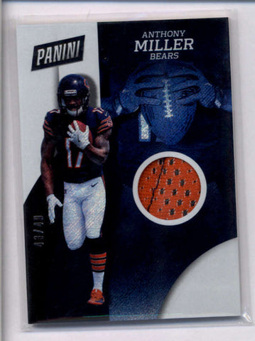 ANTHONY MILLER 2018 PANINI THE NATIONAL RAPTURE ROOKIE USED GLOVE #43/49 AC2339
