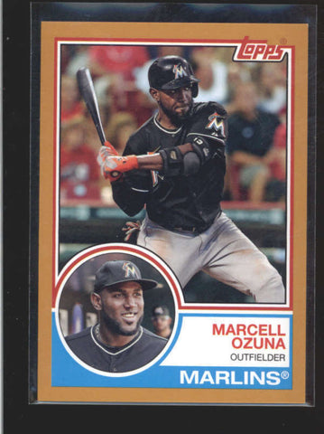 MARCELL OZUNA 2015 TOPPS ARCHIVES #221 RARE GOLD PARALLEL #47/50 AC164