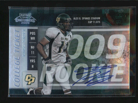 RAMSES BARDEN 2009 PLAYOFF CONTENDERS COLLEGE TICKET ROOKIE AUTO SP /63 AB6260