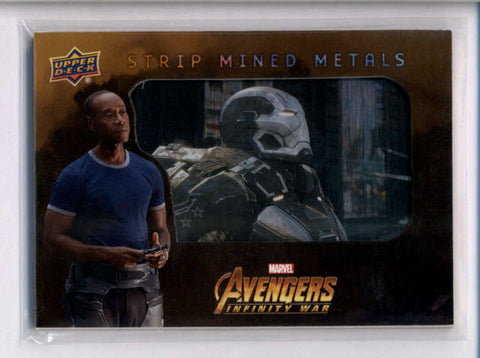WAR MACHINE 2018 MARVEL AVENGERS INFINITY WAR STRIP MINED METALS #SMM27 AC2487