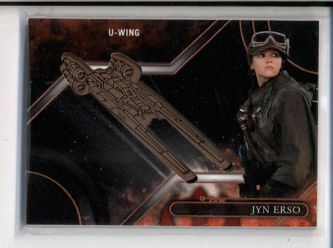 JYN ERSO (U-WING) STAR WARS GALACTIC FILES ROGUE ONE MEDALLION RELIC AC117